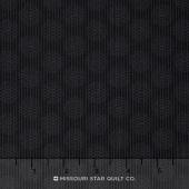 Wilmington Essentials - Midnight Circles and Stripes Black on Black Yardage