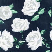 "Cuddle Prints - La Vie En Rose Navy 60"" Minky Yardage"