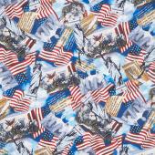 We the People - Packed USA Monuments Multi Yardage