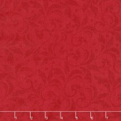 Angel Song - Scroll Red Yardage