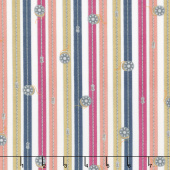 Crafters Gonna Craft - Zipper Stripe White Yardage