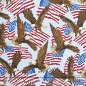 Patriotic for Quilts of Valor Foundation - Eagle Light Blue  Yardage