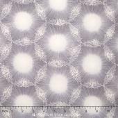 Nature's Pearl - Dandelion Dots Gray/Pearl Pearlized Yardage