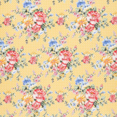 Cherry Lemonade - Small Bouquet Yellow Yardage