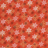 Flannel Gnomies - Snowflake Red Yardage