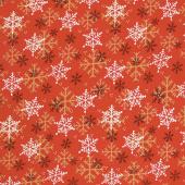 Flannel Gnomies - Snowflake Red Yardage