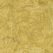 Tonga Batiks - Colorwheel Forest Dotty Spiral Gold Yardage
