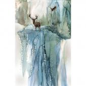 Whispering Pines - Pines Dark Blue Multi Digitally Printed Panel