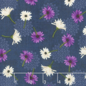 Floral Serenade - Small Floral Navy Yardage