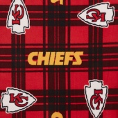 NFL Fleece - Kansas City Chiefs Red/Gold Yardage