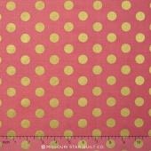 On Trend - Trend Dot Raspberry Sparkle Yardage