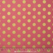 On Trend - Trend Dot Raspberry Sparkle Yardage