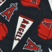 MLB Fleece - Los Angeles Angels Blue Yardage