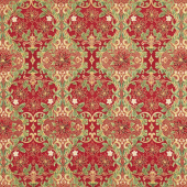 Holiday Flourish 12 - Poinsettia Red Metallic Yardage