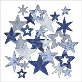 Bohemian Chic Batik Stars Fusible Appliqué Shapes