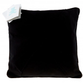 Easy as 1-2-3 Embroidery Pillow - Black