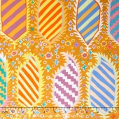 Kaffe Collective - Pastel Striped Herald Gold Yardage