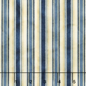 From the Farm - Awning Stripe Blue Yardage