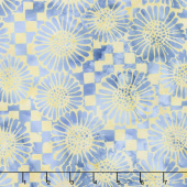 Forget Me Not Batiks - Check Sunflower Sunshine Yardage