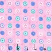 Flower Sacks - Flowers in a Circle Pink Yardage