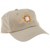 Twill Cap - Khaki with Multi Colored Star