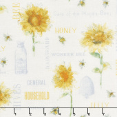 Bee My Sunshine - Collage Cream Yardage