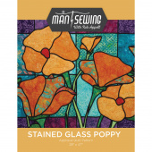 Man Sewing Stained Glass Poppy Pattern
