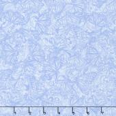 Hydrangea Blue - Butterfly Tonal Blue Yardage