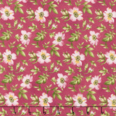 Wild Rose - Open Roses Pink Flannel Yardage