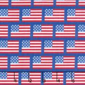 Patriotic Picnic - Flags Blue Yardage