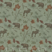 Return to Cub Lake - Cub Lake Moss Flannel Yardage