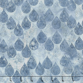 London Fog Batiks - Rain Dots Rice Yardage