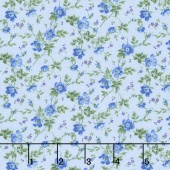 Afternoon in the Attic - Dainty Blooms Bluebell Flannel Yardage