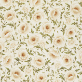Gilded Blooms - Poppies Ivory Metallic Yardage