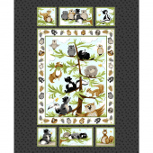 Woodland Friends - Woodland Friends Quilt Dark Grey Panel