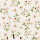 Farmhouse Floral - Toss Cream Yardage