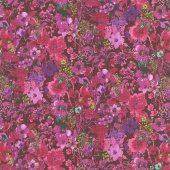 Bloom Bloom Butterfly - Moonlit Blooms Mulberry Yardage