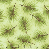 Poinsettia & Pine - Fresh Pine Light Green Yardage