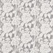 Marguerite - Large Floral Charcoal Yardage