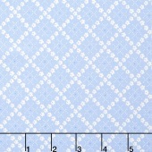 Guernsey - Kit Flower Plaid Sky Yardage