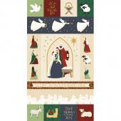 Oh Holy Night - Nativity Metallic Panel