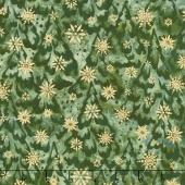 Artisan Batiks - Northwoods 6 Snow Covered Trees Forest Metallic Yardage