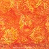 Empress Garden Batiks - Zinnia Poppy Yardage