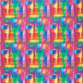 Day Dreaming - Rainbow Dream Plaid Multi Digitally Printed Yardage