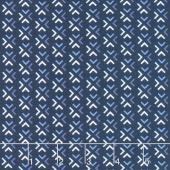 Blue Stitch - Trellis Navy Yardage