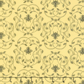 Honey Run - Honey Queen Bee Yellow Yardage