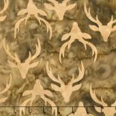 Oh Deer Batiks - Antlers Nutmeg Yardage