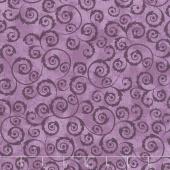 Amour - Scroll Plum Yardage
