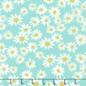 Painted Garden - Daisies For Days Turquoise Yardage