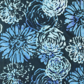 Blossom Batiks - Splash Bouquet Bluebird Yardage